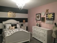I love the way this black and gold room turned out. The ...