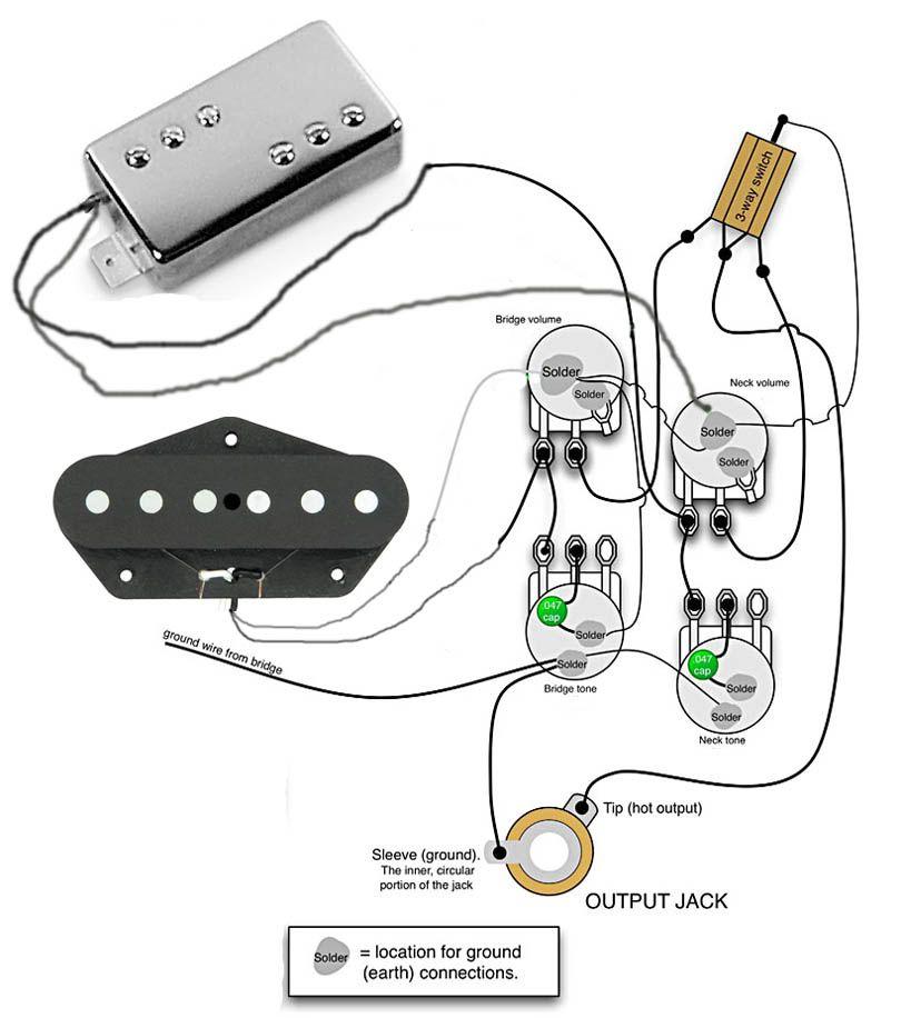 "Tele Wiring Diagrams & TeleTemplate """"sc"" 1""st"" ""TDPRI Com"