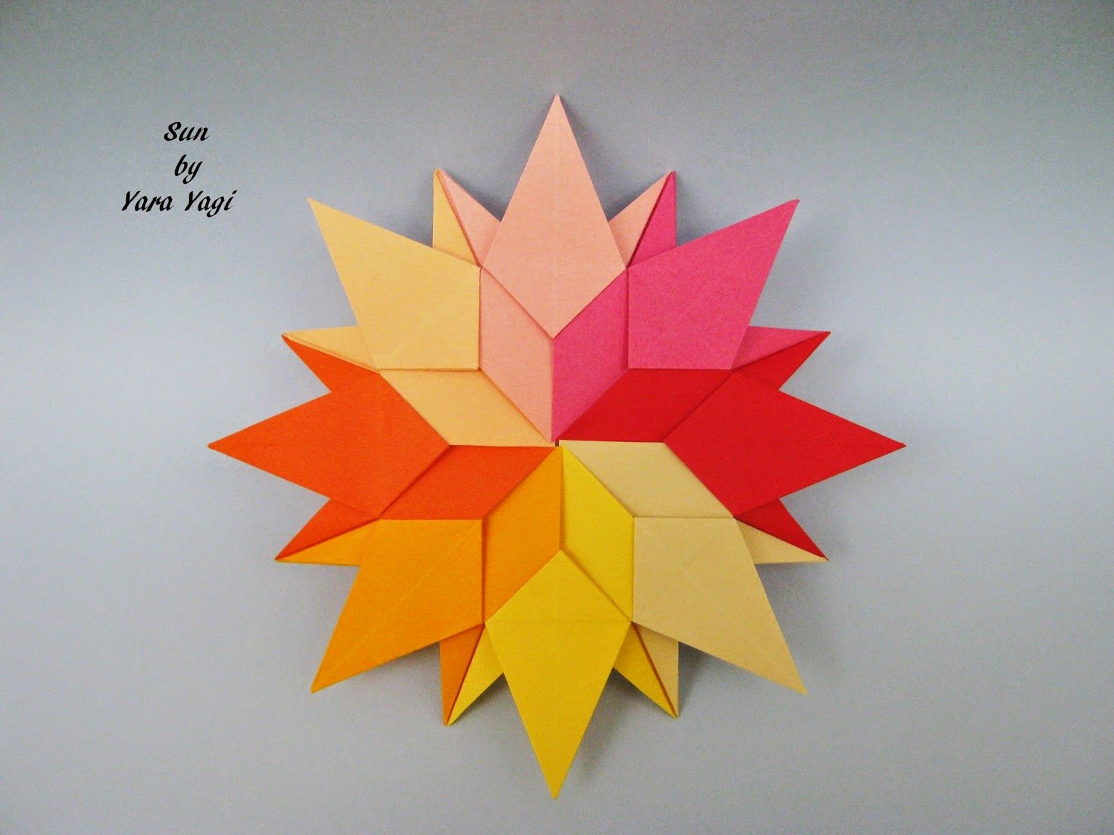 cool modular origami diagram chinese 6 pin dc cdi wiring sun by yara yagi photo