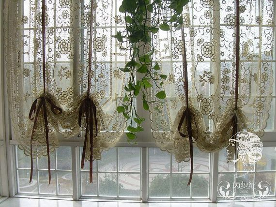 French Country Window Treatments French Country Hand Crochet