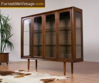 Mid Century Modern Lighted Walnut China Cabinet | My home ...