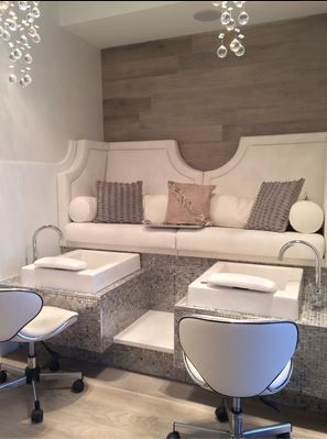 cheap pedicure chairs chair for stool passing tiffany bench by michele pelafas, inc. owner lauren macvean has fabulo... | salon ...