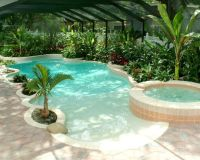 swimming pools with beach entry & in