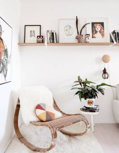 Home design create  corner of relaxation and deep reading by having rattan rocking chair in your office or living room also shop domino for the top brands decor be inspired rh pinterest