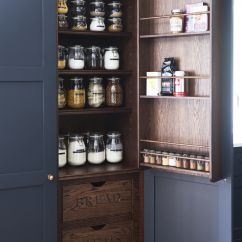 Oak Kitchen Pantry Remodel Designs Farrow And Ball Railings Painted With Dark