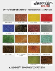 Butterfield color offers  line of water based concrete stains called elements transparent stain it features choices also eco chart kitchen rh pinterest