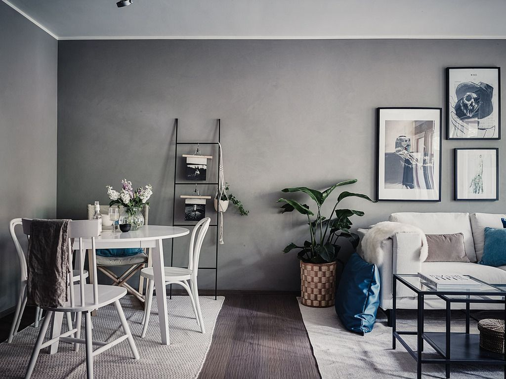 Small living room in grey and white  LIVING ROOM  BLOG  Pinterest  Small living rooms Small