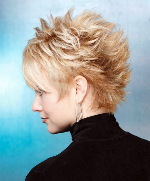 Short Hairstyle Straight Alternative Light Blonde