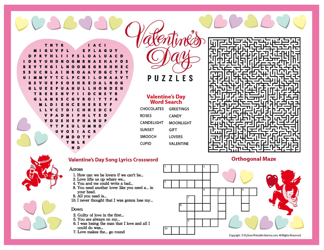 Printable Valentine Puzzles