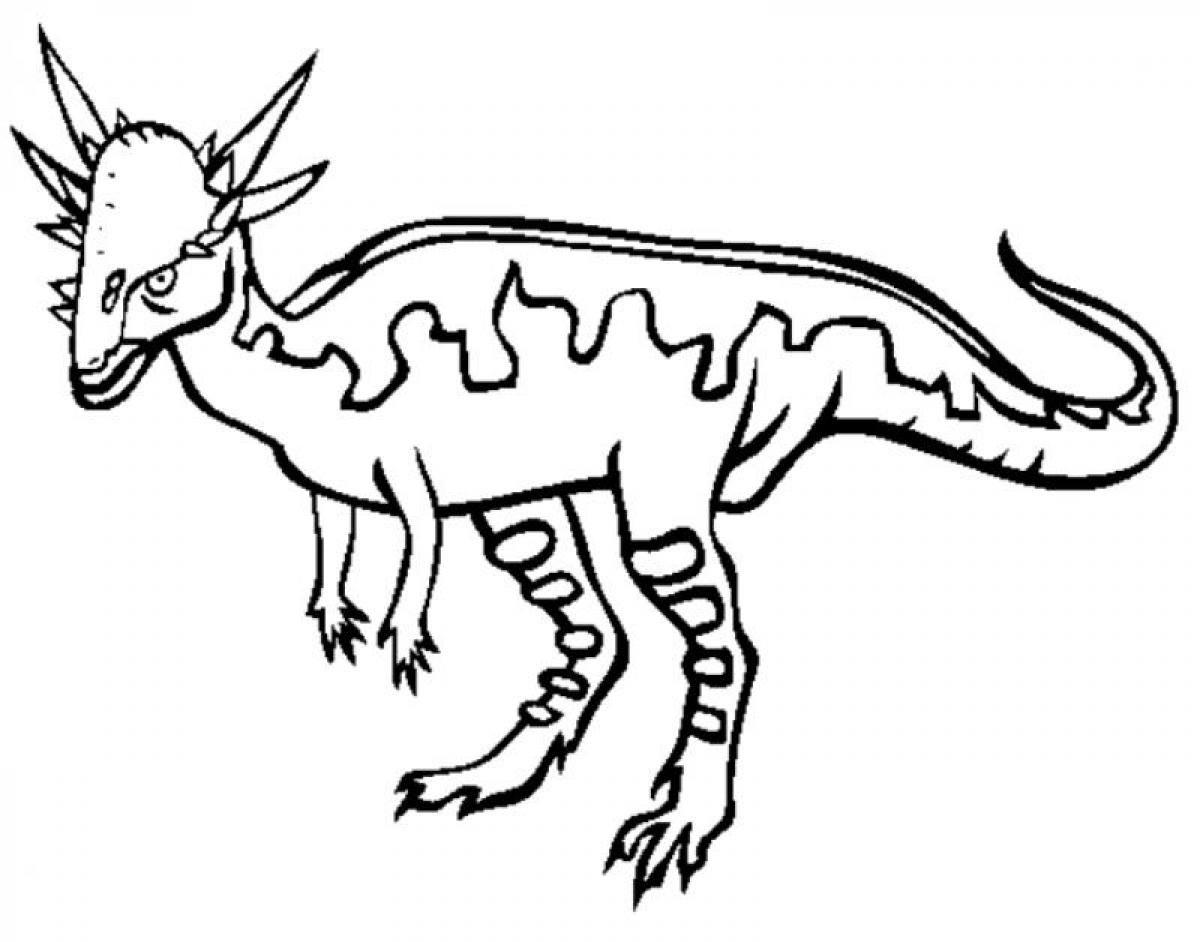 Stygimoloch Dinosaur Coloring Pages Printable