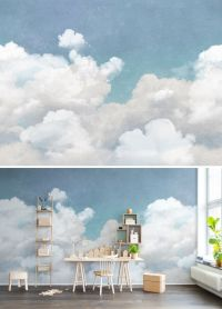 WALL MURAL | WALLPAPER | BLUE | TURQUOISE | DREAM | SKY ...
