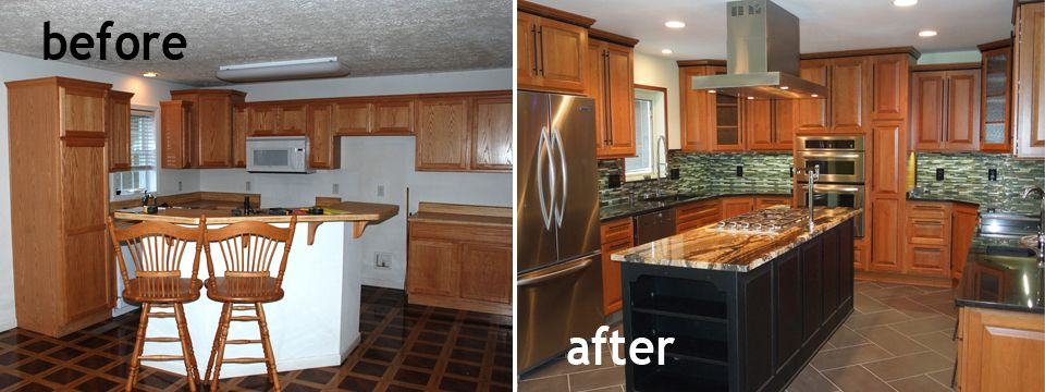 Kitchen Remodels Before And After Model Home Kitchen1 Before And