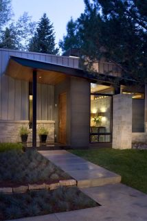 Mid Century Modern Ranch House Entrances
