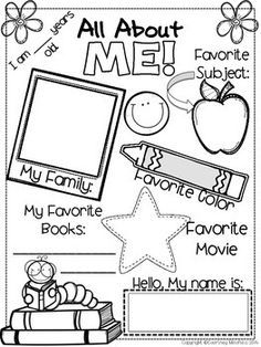 Use this All About Me sheet as a beginning of year