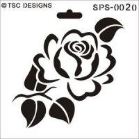 SPS-0020 Elegant rose - TSC Stencil Designs | CUTTING ...