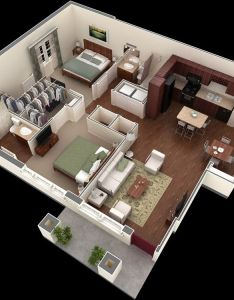 two bedroom apartment house plans also the best images about small on pinterest rh au