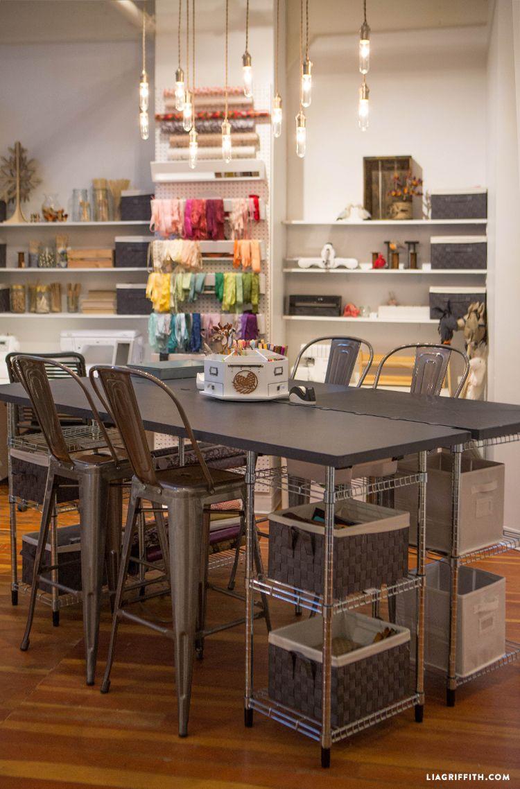 Studio Tour Our Craft Room  Room ideas Studio and Craft