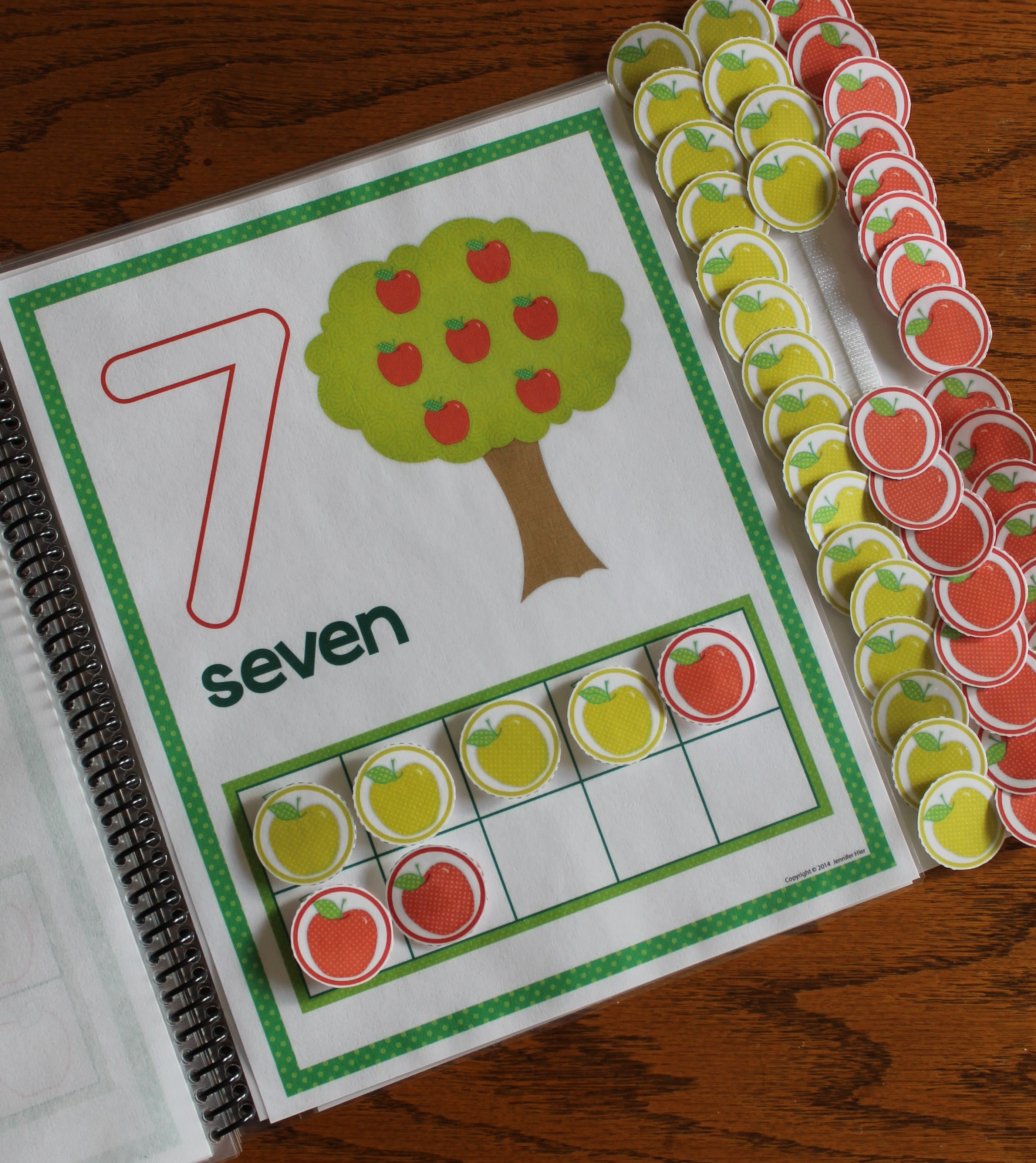 Apples Number Mats 0 10 Play Dough Counting Mats And