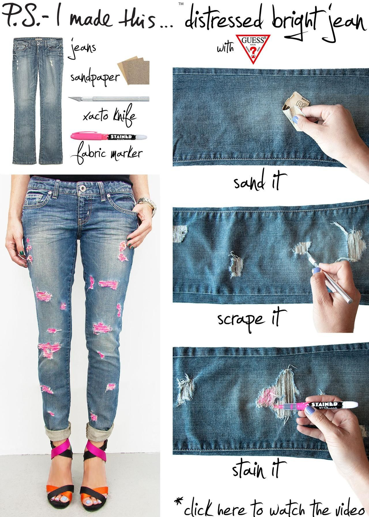How To Make Ripped Jeans Bbg Clothing