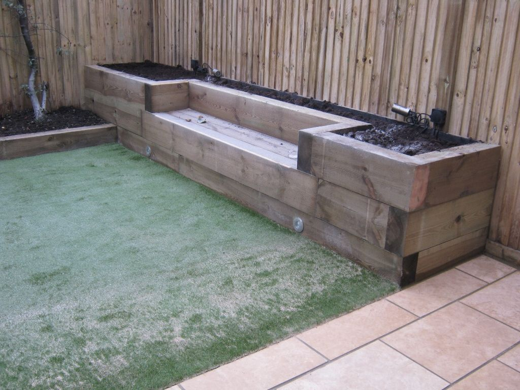 Railway Sleepers Garden Gurus Landscape Gardening In South