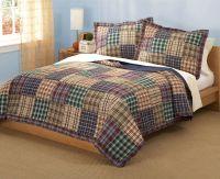 Plaid Patchwork Teen Boy Bedding Twin Full/Queen Quilt ...