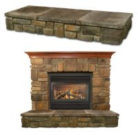 stone fireplaces with raised hearth | Piece Hearth Pads (2 ...
