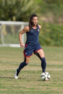 Female Soccer Players Training