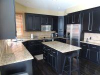 White Granite Countertops With Dark Cabinets   www ...