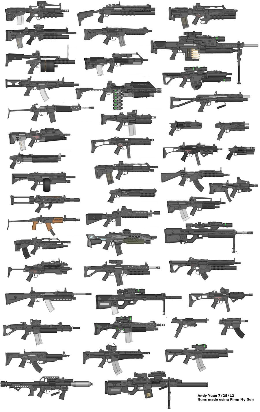Rifles by Pimp My Gun 15 by c-force.deviantart.com on
