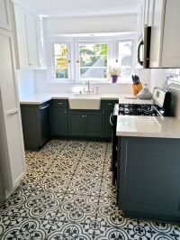 Beautiful Modern Kitchen Design Mosaic Tile Floor Griffith ...