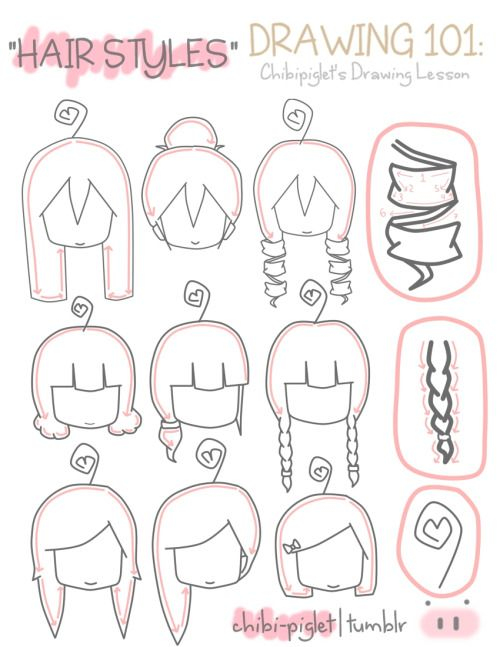 How To Draw Different Hairstyles Drawinginspirationbyme