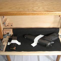 Sofa Gun Safe Blue Furniture Village Secret Compartment Makers End Table