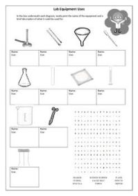 Science Lab Equipment Worksheet For Kids  Kids Matttroy