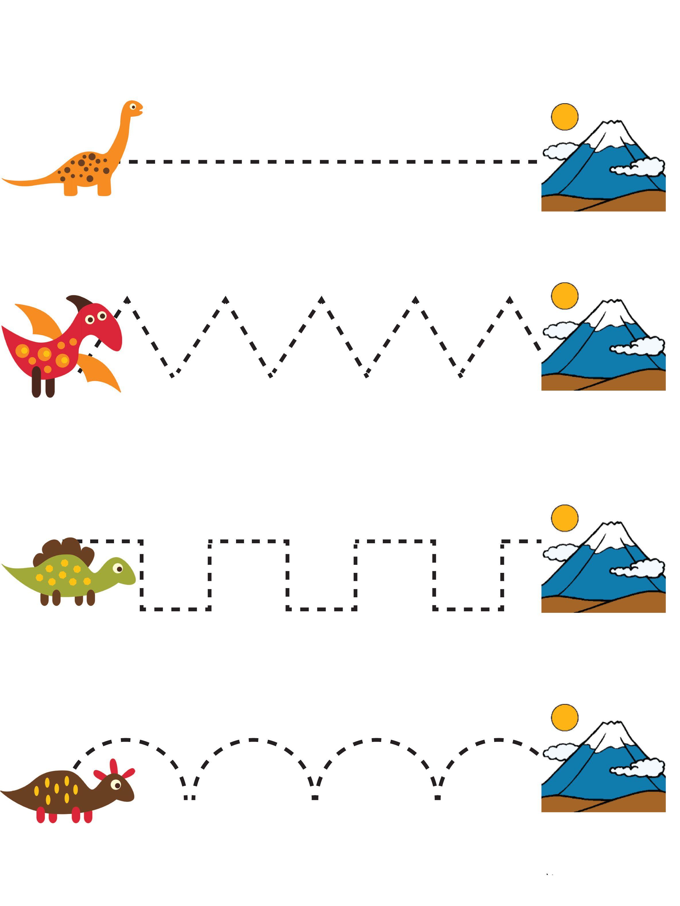 Dinosaur Preschool No Prep Worksheets Activities The Unit