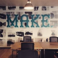 Conference room mural at a WeWork office in London. Photo ...