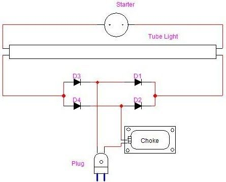 Fuse Tube Light Circuit Diagram Electronics And Electrical