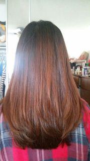 haircut. layered hair. medium