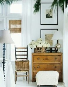 Coastal style india hicks  model life pretty vignette with white curtains and walls simple furnishings also pin by leslie tillman on dining rm pinterest rh