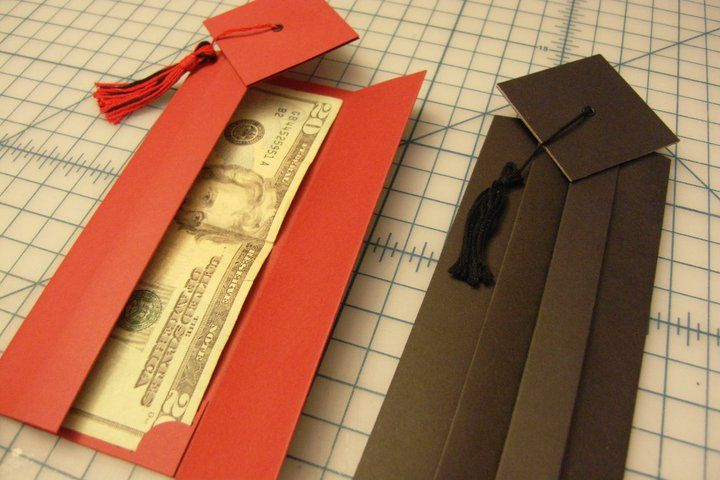 Cap and gown graduation envelope gift card holders