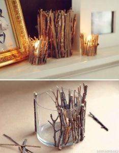 Twig candle holder candles diy crafts home made easy craft idea ideas also rh pinterest
