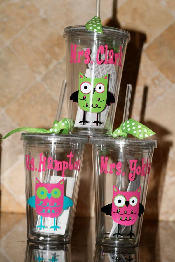 Personalized Custom Acrylic Cups With Initial And