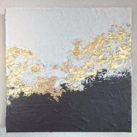 White and Black Gold Foil Leaf