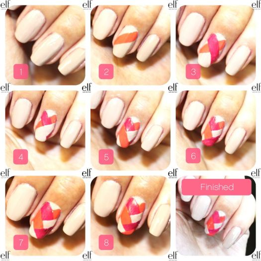 Simple nail art ideas at home step by home painting nail art step by version of the easy fishtail simple nail art designs at home for beginners prinsesfo Images