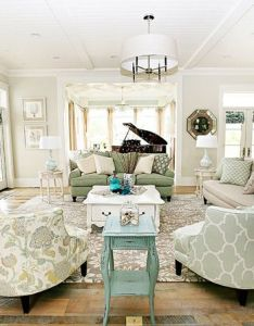Love this living room the colors are so calming see more photos of here turquoise is color theme house also club chairs  pretty palette my home style rh pinterest