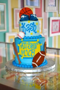 Sports themed All Star Baby Shower Cake www ...
