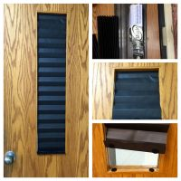 Lockdown door window shade that you can have up with a ...