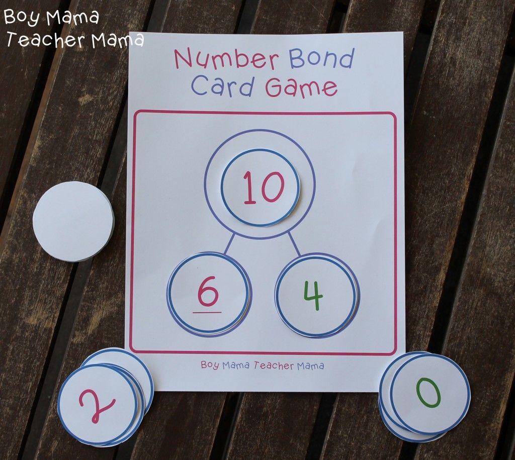Boy Mama Teacher Mama Number Bond Card Game 8