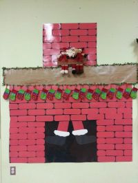 Santa coming down the chimney | Secret Santa ideas ...