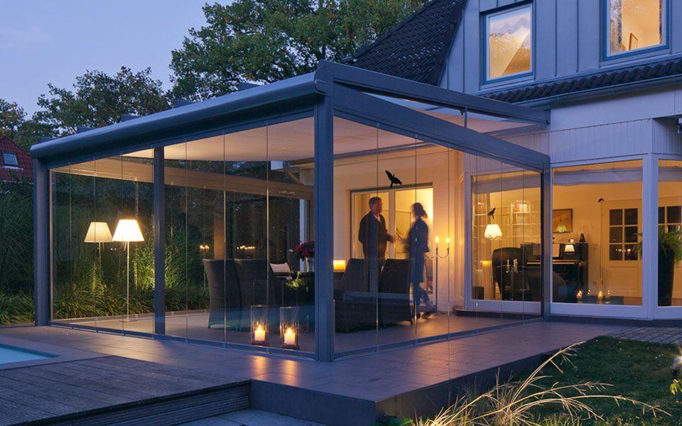 Glashaus Light Glas Schiebeturen Terrassenuberdachung Wintergarten