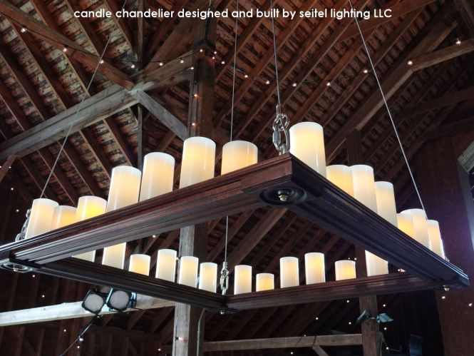 I Designed And Built This Square Candle Chandelier In 2017 For A Client Getting Married At